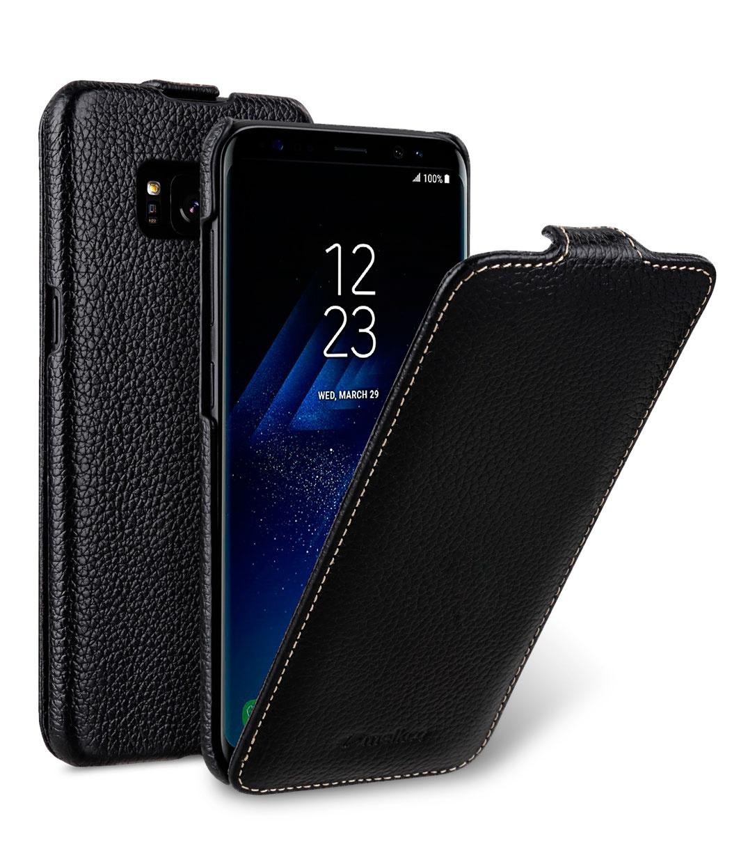 Чехол для сотового телефона Melkco Кожаный чехол флип для Samsung Galaxy S8, черный