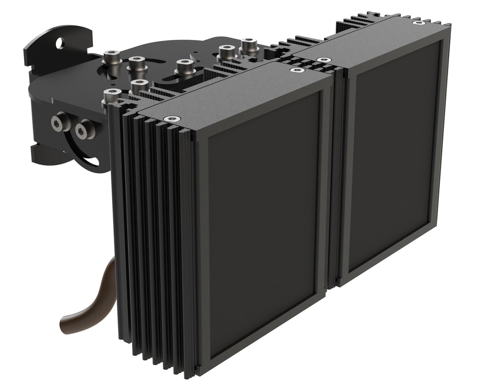 Инфракрасный прожектор Microlight IR VARIO L 2.8-12/37 с регулировкой угла для камеры с объективом 2,8-12 мм. Дальность до 100 метров ночного видения Уличный IP67