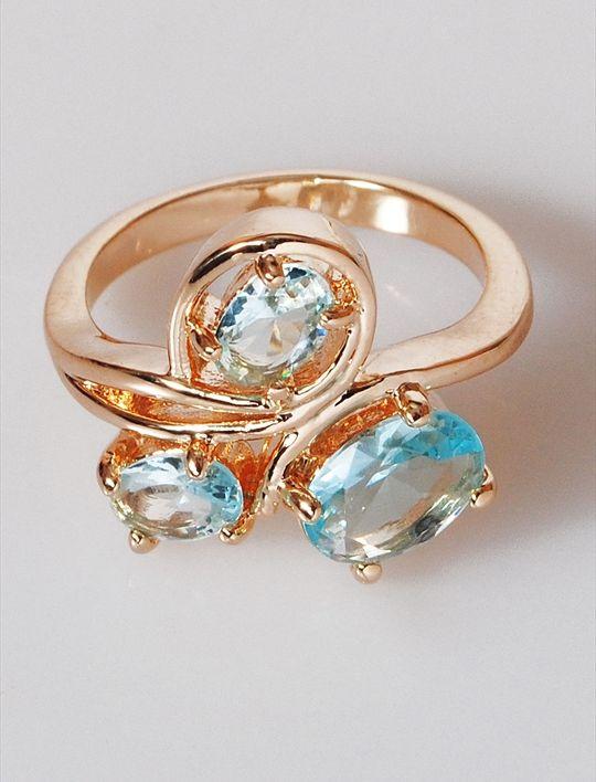 Кольцо бижутерное Lotus jewelry 3031R-18Blcz, Ювелирный сплав, Фианит, голубой катушка индуктивности jantzen cross coil 12 awg 2 mm 3 9 mh 0 42 ohm