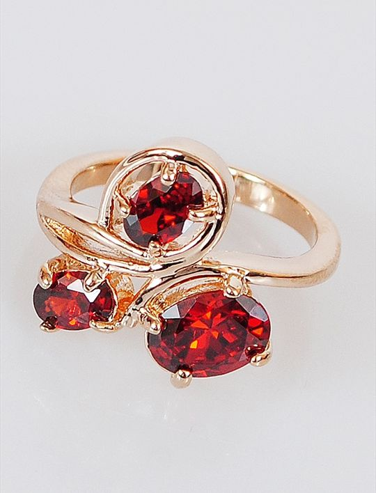 Кольцо бижутерное Lotus jewelry 3031R-18gn, Ювелирный сплав, Гранат, красный катушка индуктивности jantzen cross coil 12 awg 2 mm 3 9 mh 0 42 ohm