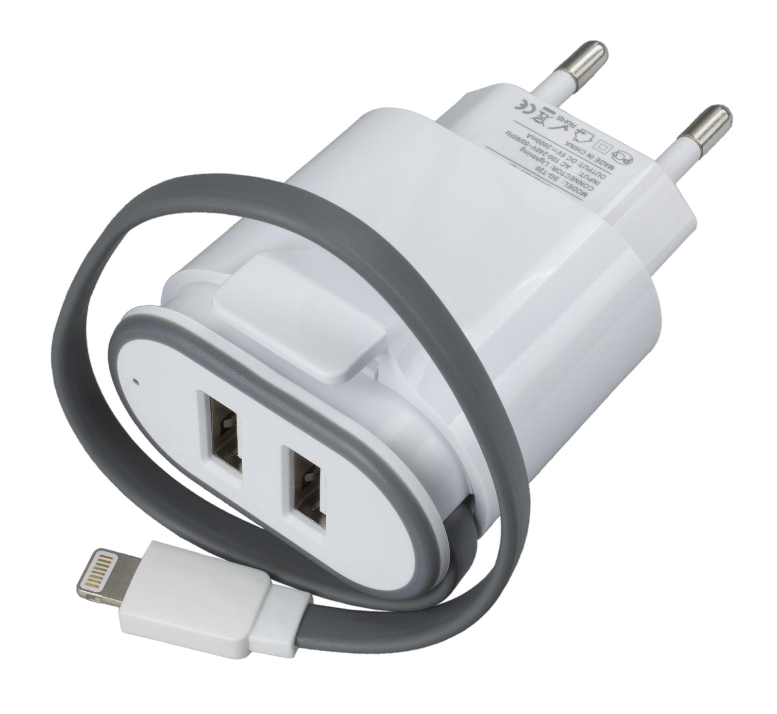 Зарядное устройство Navitoch Lightning, белый red line nt 1a white сетевое зарядное устройство кабель lightning