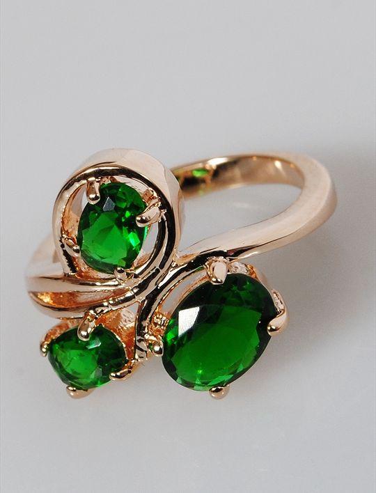 Кольцо бижутерное Lotus jewelry 3031R-18Gcz, Ювелирный сплав, Фианит, зеленый катушка индуктивности jantzen cross coil 12 awg 2 mm 3 9 mh 0 42 ohm