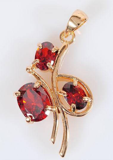 Подвеска/кулон бижутерный Lotus jewelry 3031P-17gn, Ювелирный сплав, Гранат, красный катушка индуктивности jantzen cross coil 12 awg 2 mm 3 9 mh 0 42 ohm