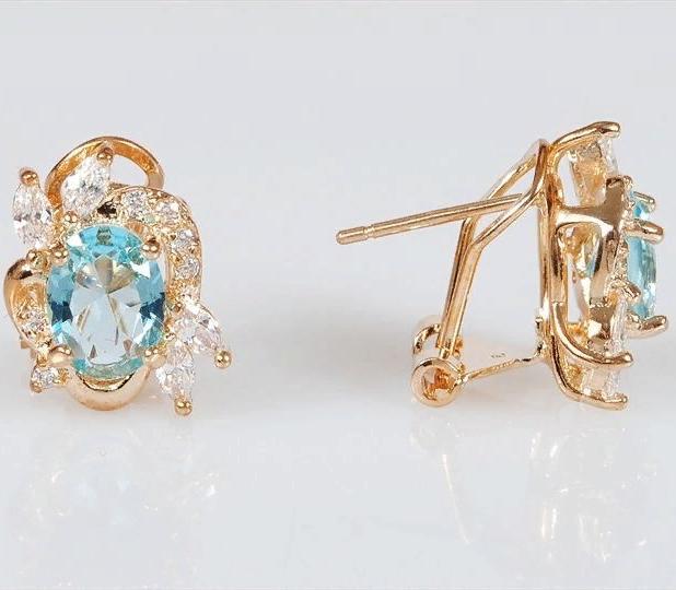 Серьги бижутерные Lotus jewelry 3023E-03Blcz, Ювелирный сплав, Фианит, голубой цена