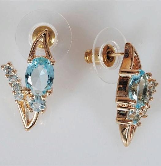 Серьги бижутерные Lotus jewelry 3023E-27Blcz, Ювелирный сплав, Фианит, голубой цена