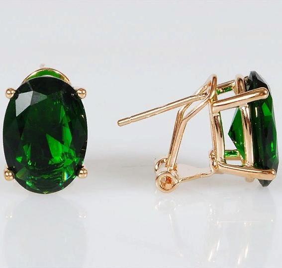 Серьги бижутерные Lotus jewelry 3023E-10Gcz, Ювелирный сплав, Фианит, зеленый цена