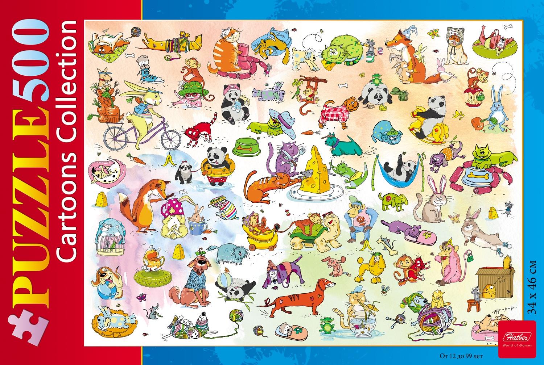Пазл HATBER Забавные животные 500 элементов пазл hatber цветущий вид 500пз2 17102 500 элементов