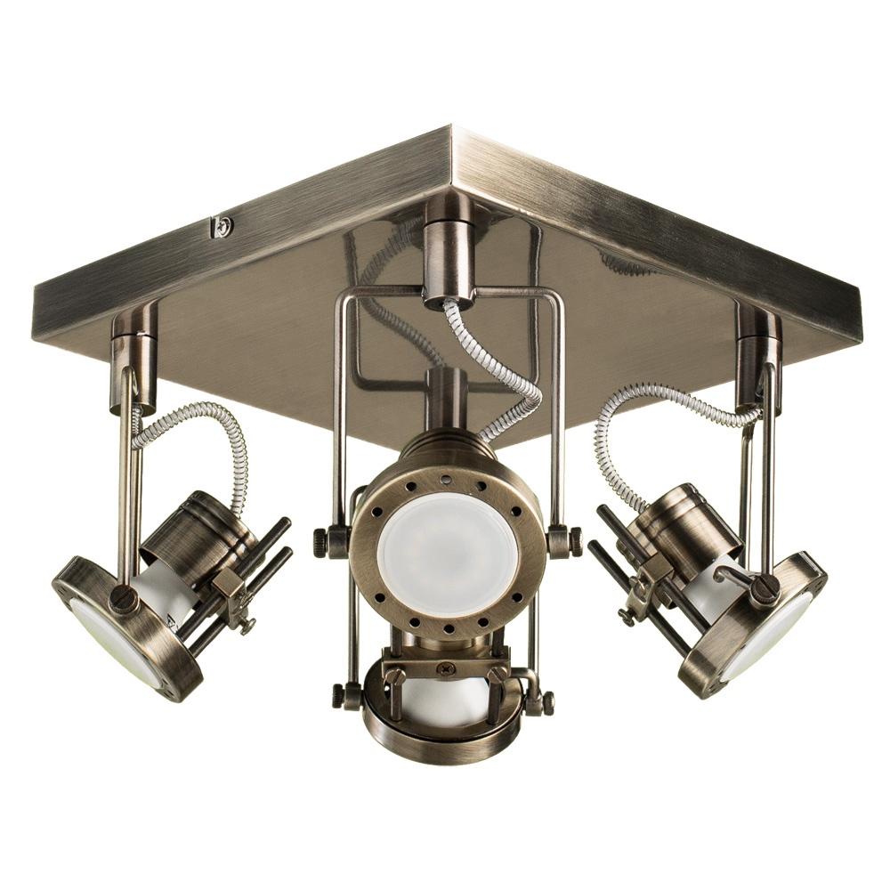 Настенно-потолочный светильник Arte Lamp A4300PL-4AB, GU10, 50 Вт arte lamp потолочный светильник arte lamp a4300pl 4ab