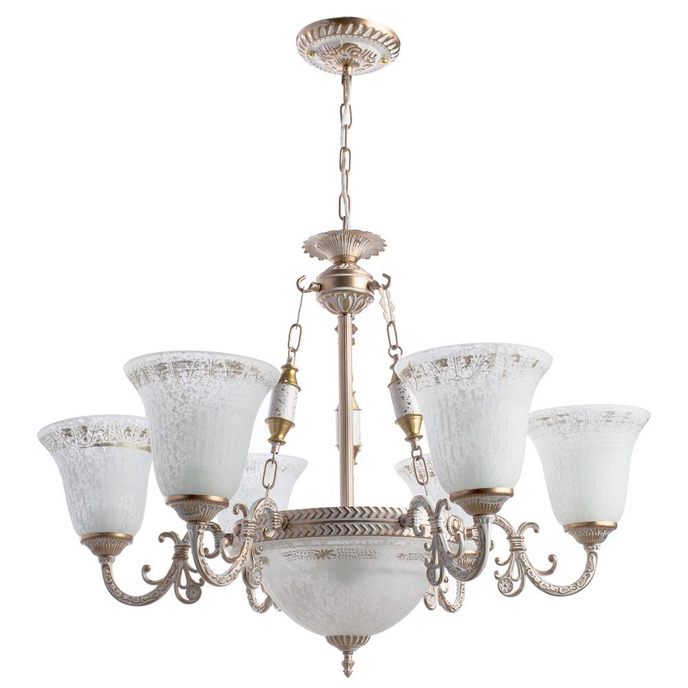 Подвесной светильник Arte Lamp A1032LM-6-3WG, E27, 60 Вт подвесной светильник arte lamp a9310lm 3wg e27 40 вт