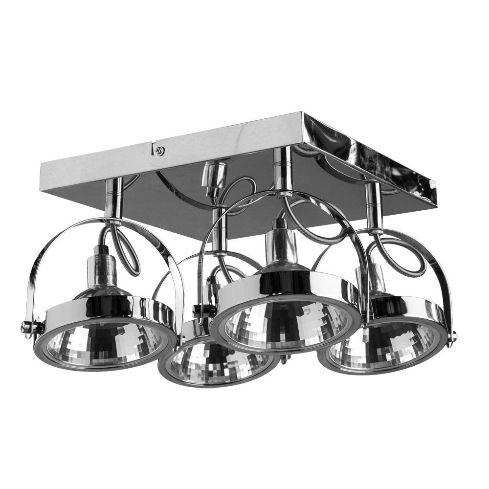 Настенно-потолочный светильник Arte Lamp A4506PL-4CC, серый металлик arte lamp светильник потолочный a5085pl 4cc