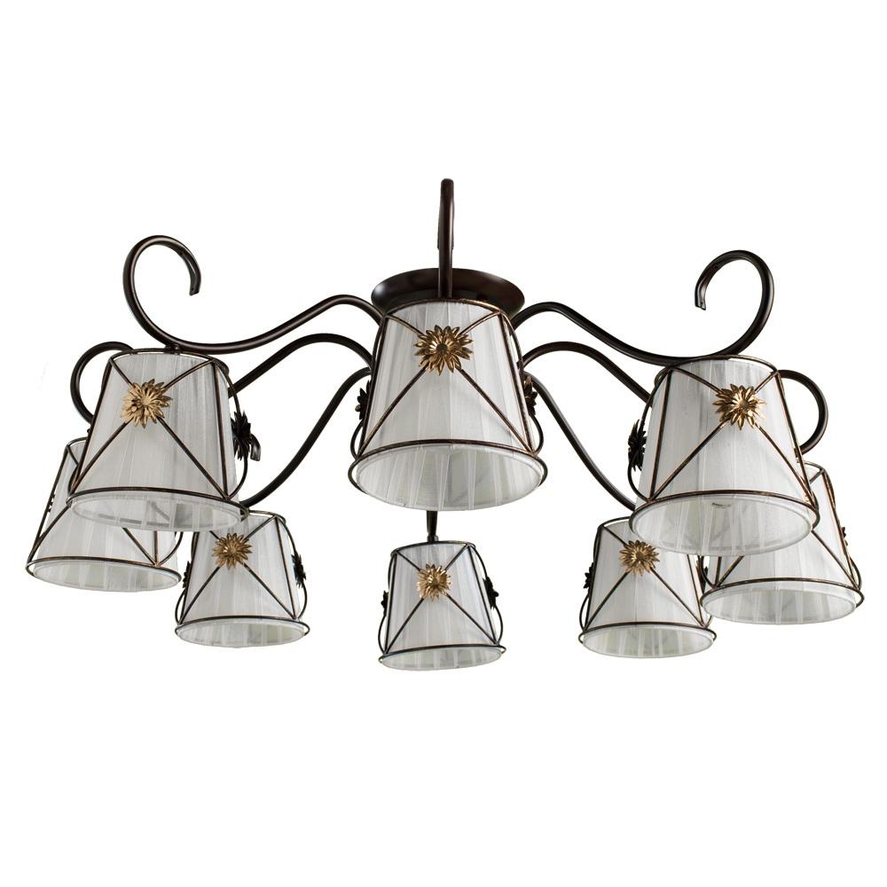 Потолочный светильник Arte Lamp A5495PL-8BR, E14, 60 Вт потолочная люстра arte lamp fortuna a5495pl 8wg