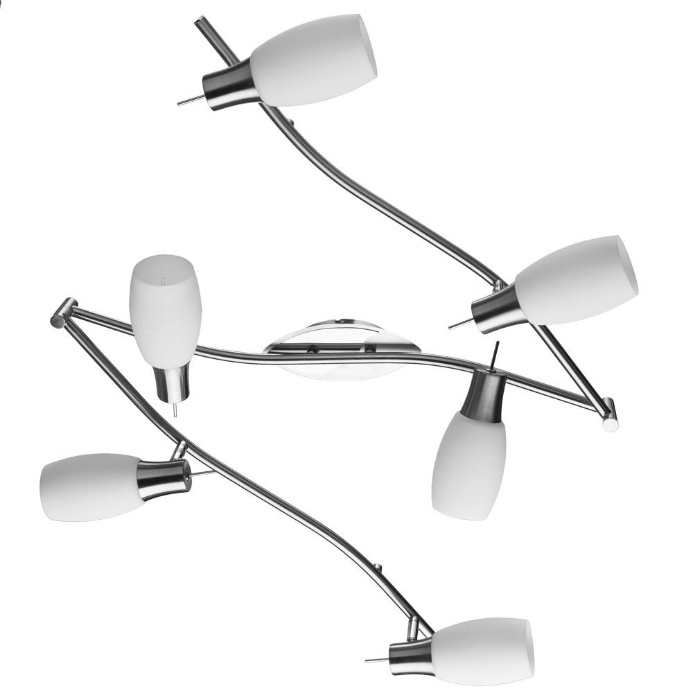 Настенно-потолочный светильник Arte Lamp A4590PL-6SS, E14, 40 Вт