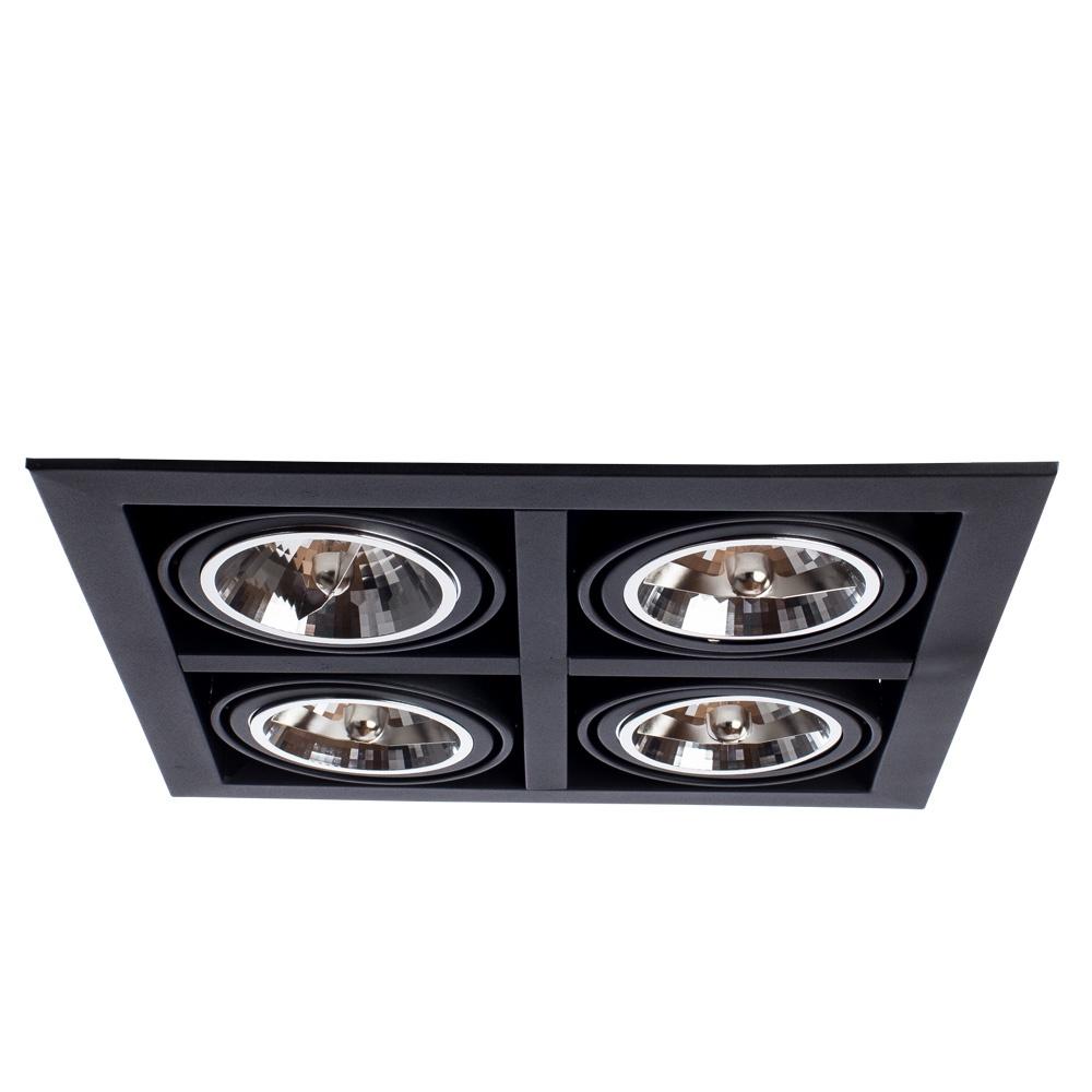 Встраиваемый светильник Arte Lamp A5935PL-4BK, черный arte lamp a4402pl 4bk