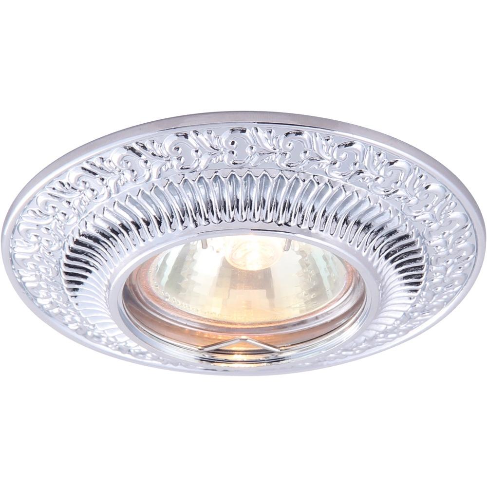Встраиваемый светильник Arte Lamp A5280PL-1CC, серый металлик цены