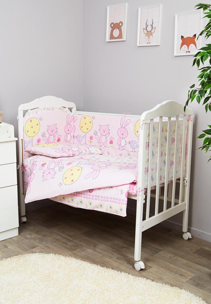 Фото - Комплект белья для новорожденных Сонный гномик Акварель, розовый комплект белья для новорожденных сонный гномик жирафик бежевый белый