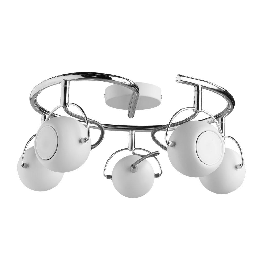 купить Настенно-потолочный светильник Arte Lamp A9128PL-5WH, серый металлик по цене 6470 рублей