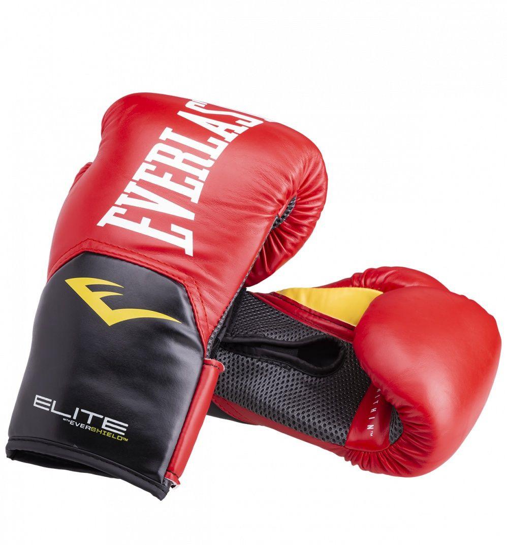 Боксерские перчатки Everlast ProStyle Elite, цвет: красный. Вес 16 унций перчатки боксерские everlast pro style elite 2112e цвет красный 12 oz