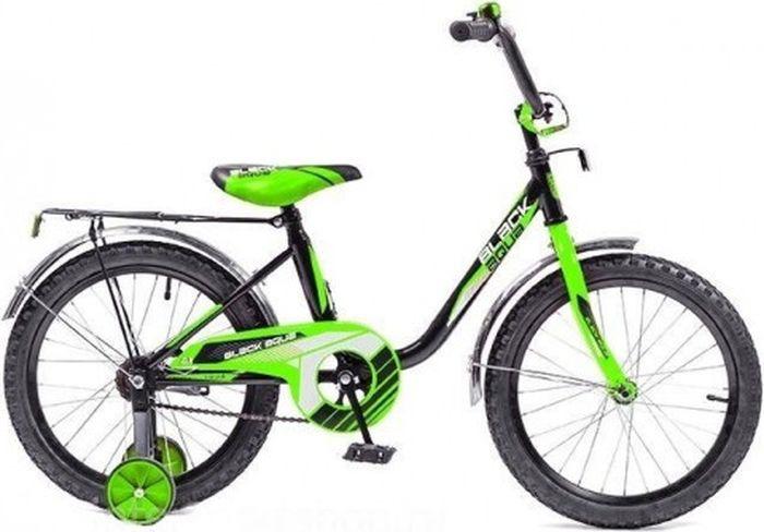 """Велосипед детский Black Aqua, DK-1804, колесо 18, черный, салатовый велосипед meratti protus sport 29 er 16 29"""" черный салатовый матовый"""