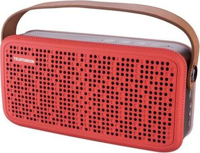 Колонка портативная Telefunken TF-PS1230B, 8 Вт, 2.0 BT/3.5Jack/USB, 4000mAh, красный, коричневый все цены