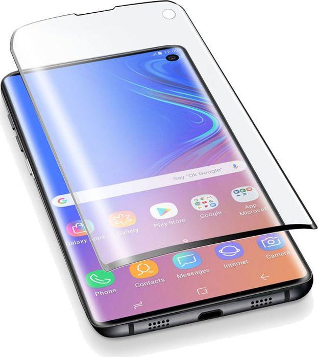 Защитная пленка Cellularline для Samsung Galaxy S10, SPCURVEDGALS10, прозрачный кола oppo r9s стальной мембраны сотовый телефон защитная пленка покрывает весь экран 5 5 дюймов черный экран