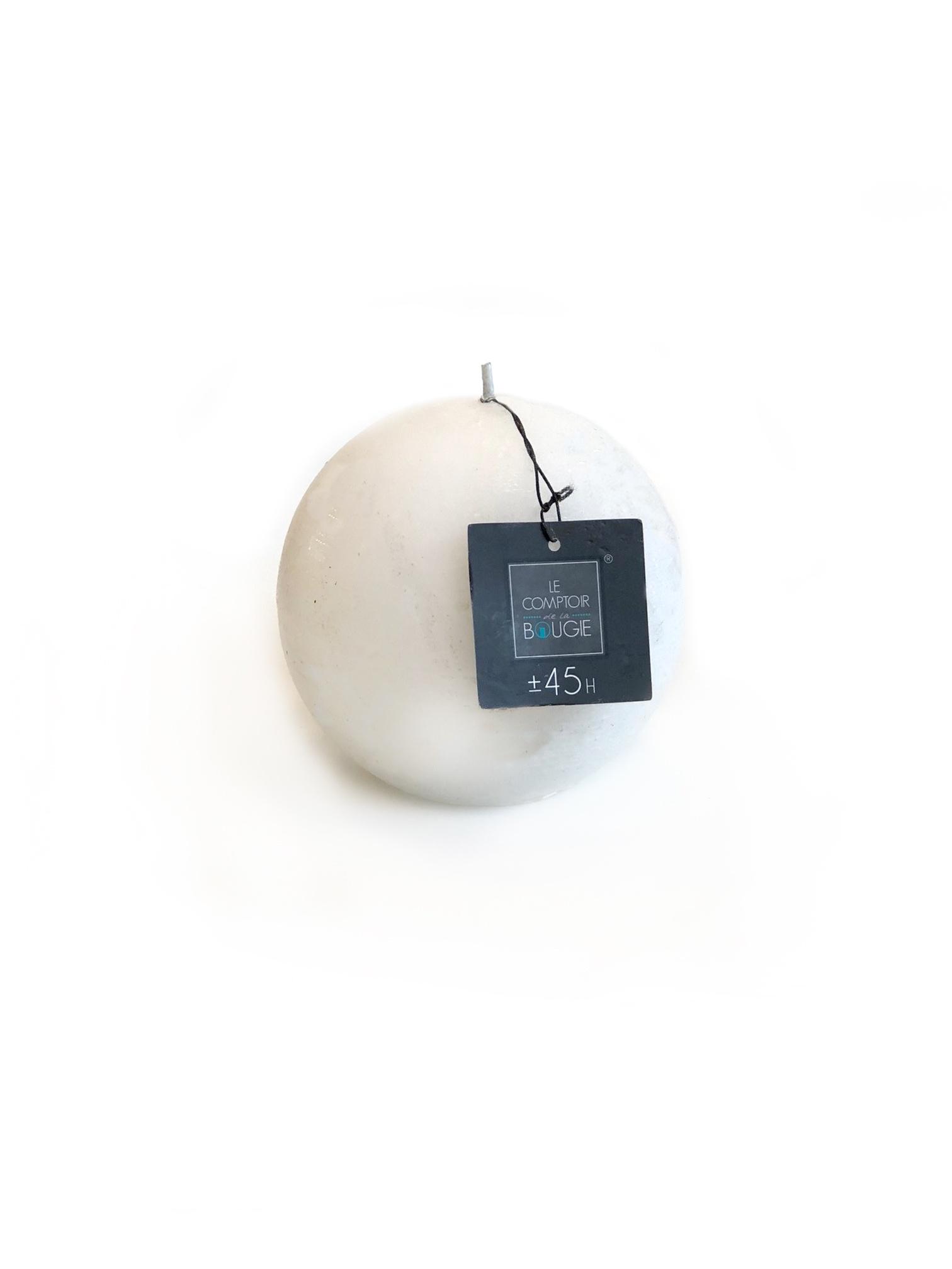 Свеча шарообразная (белая), 445 (гр). свеча ароматизированная arome enjoy 136582a