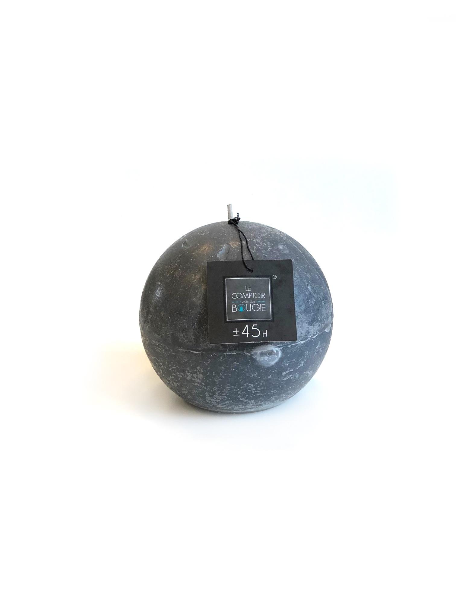 Свеча шарообразная (серая), 445 (гр). свеча ароматизированная arome enjoy 136582a