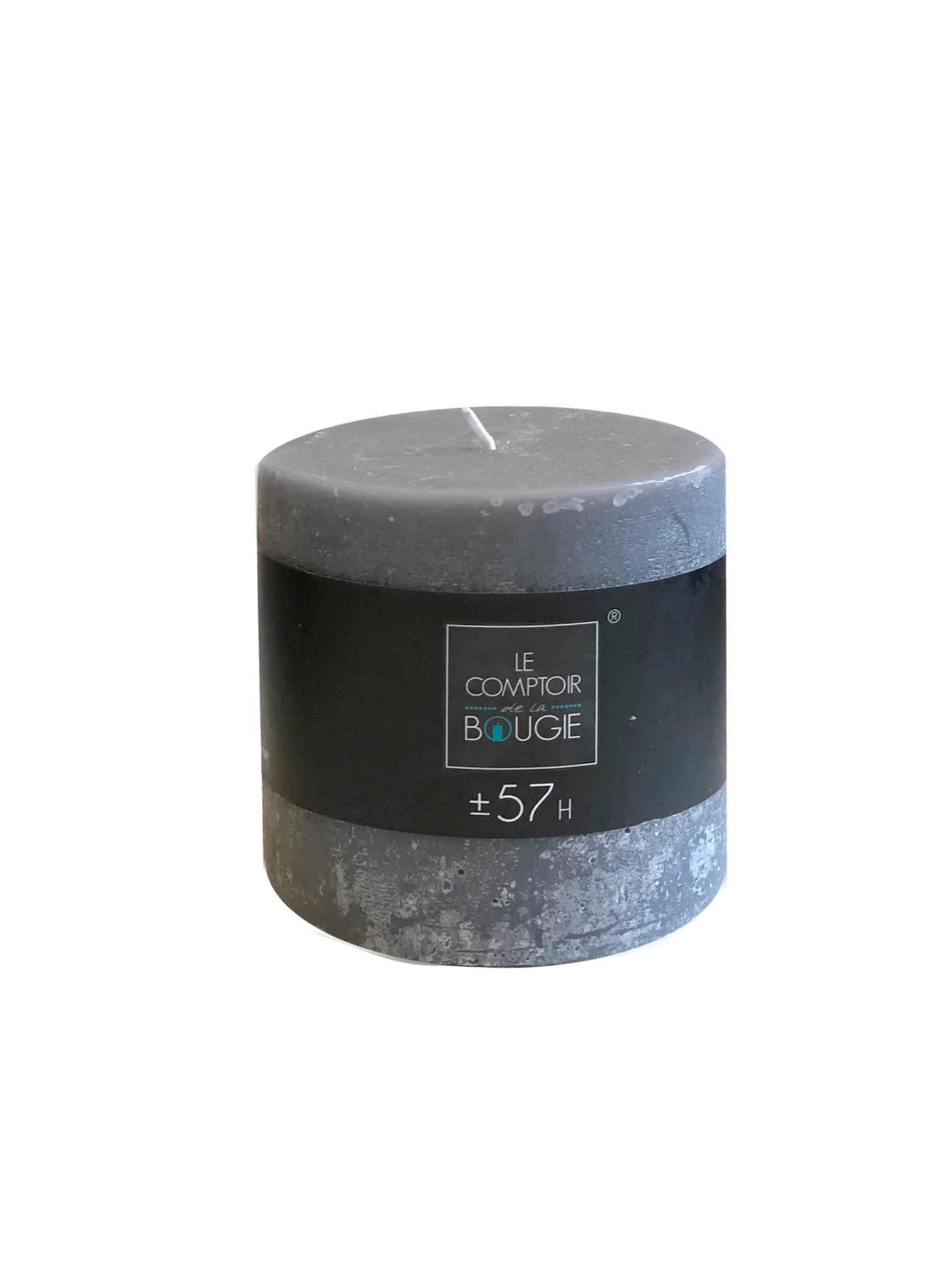 Свеча цилиндрическая (серая), 720 (гр). свеча ароматизированная arome enjoy 136582a