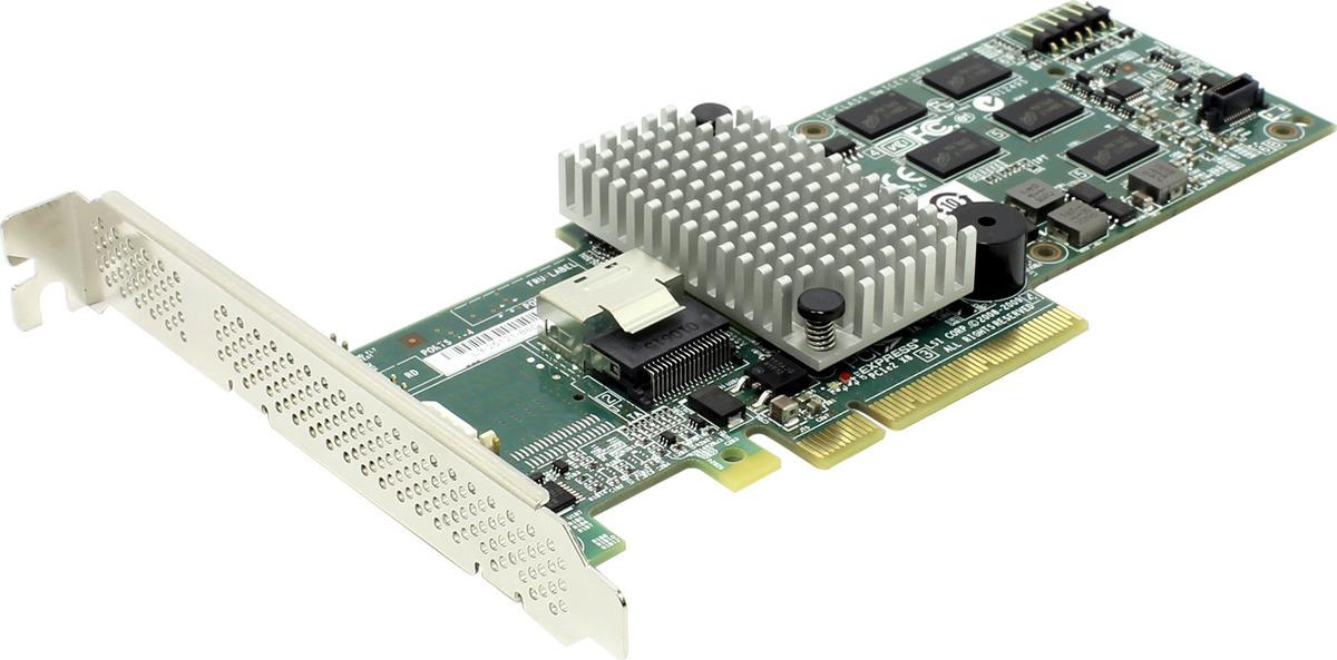 Контроллер LSI 9260-4I SGL LSI00197 контроллер sas sata lsi megaraid sas9240 4i pci e 2 0 x8 lp sgl lsi00199