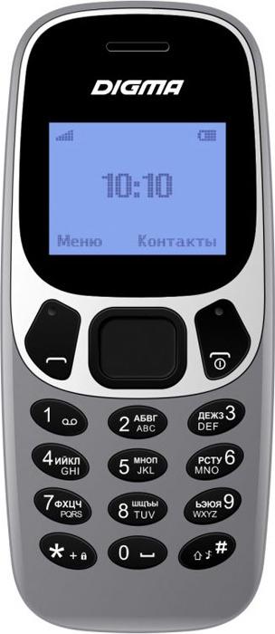 Мобильный телефон Digma Linx A105N 2G, 32 Мб, серый мобильный телефон digma linx a105 2g черный