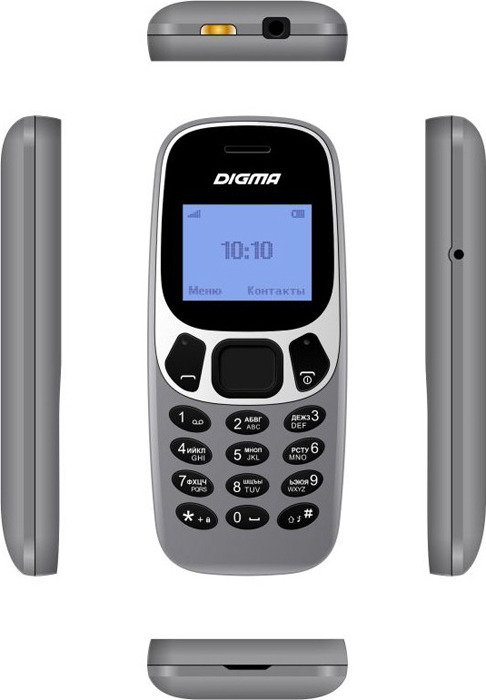 Мобильный телефон Digma Linx A105N 2G, 32 Мб, серый Digma