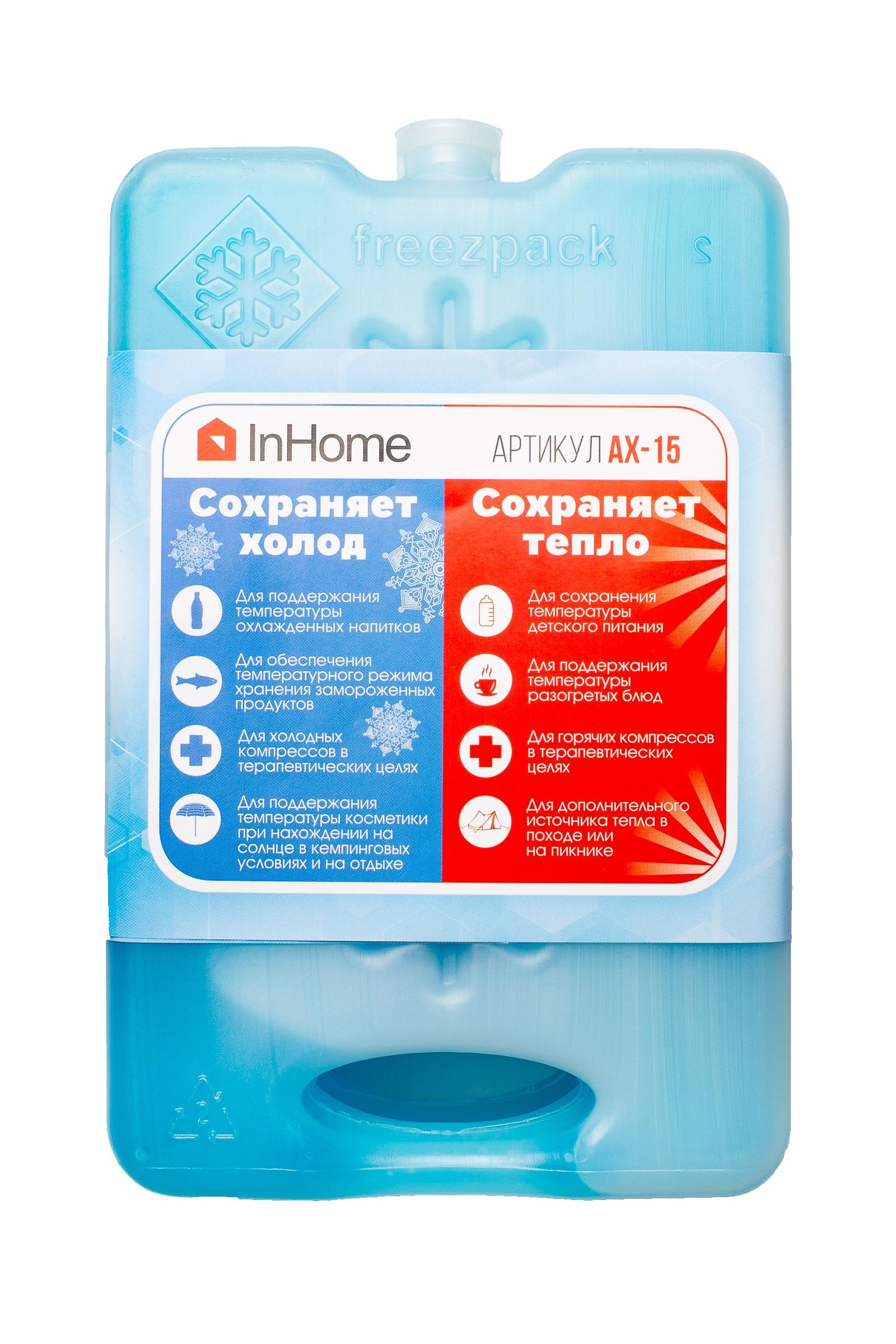 Аккумулятор холода Inhome АХ-15(500) Набор-2 шт., PLA пластик