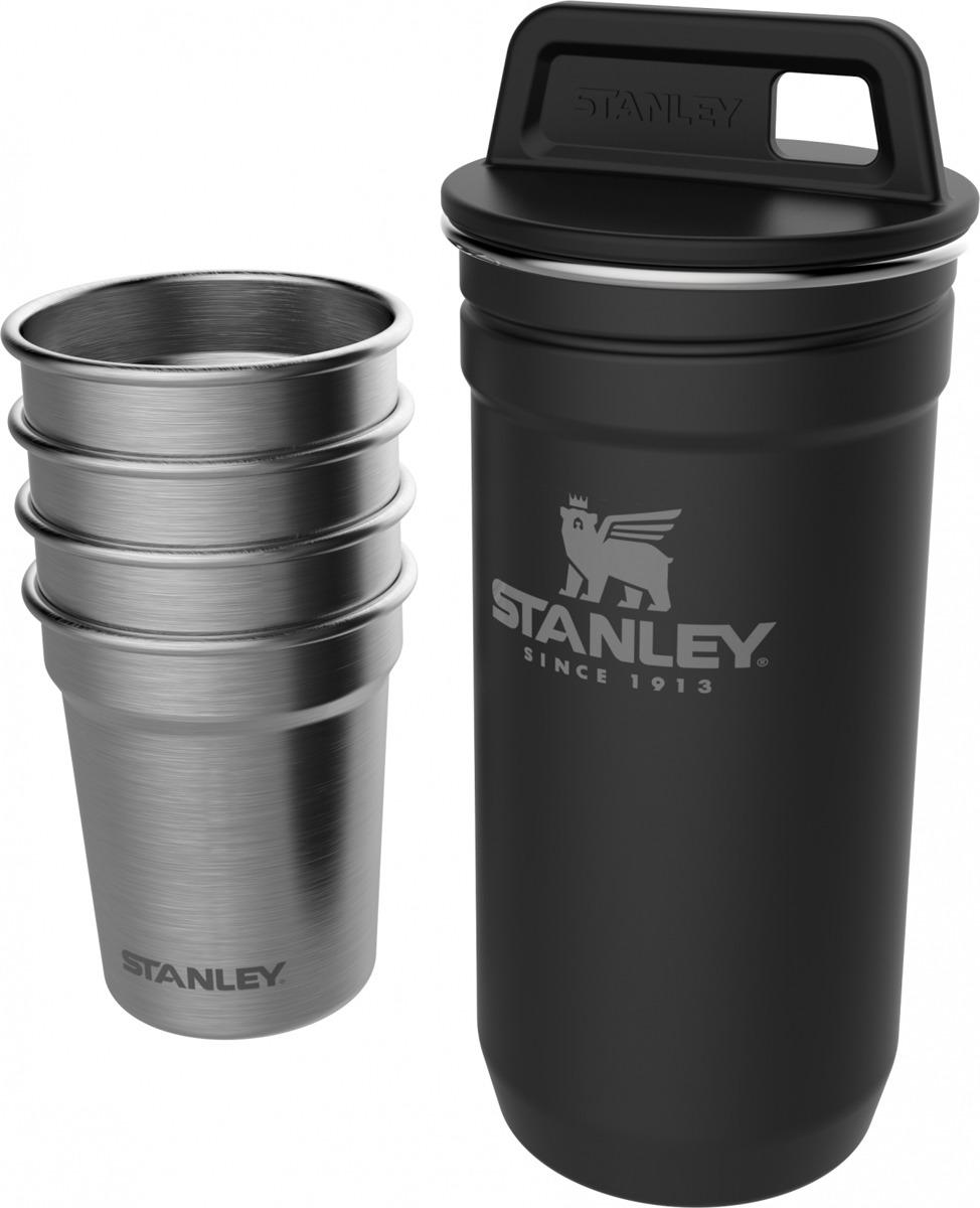 Набор стопок Stanley Adventure, 10-01705-036, черный, 59 мл, 4 шт