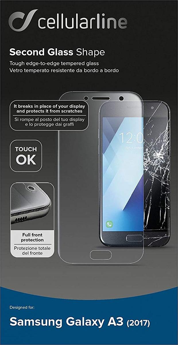 Защитное стекло Cellularline для Samsung Galaxy A3 (2017), TEMPGCABGALA317T, прозрачный