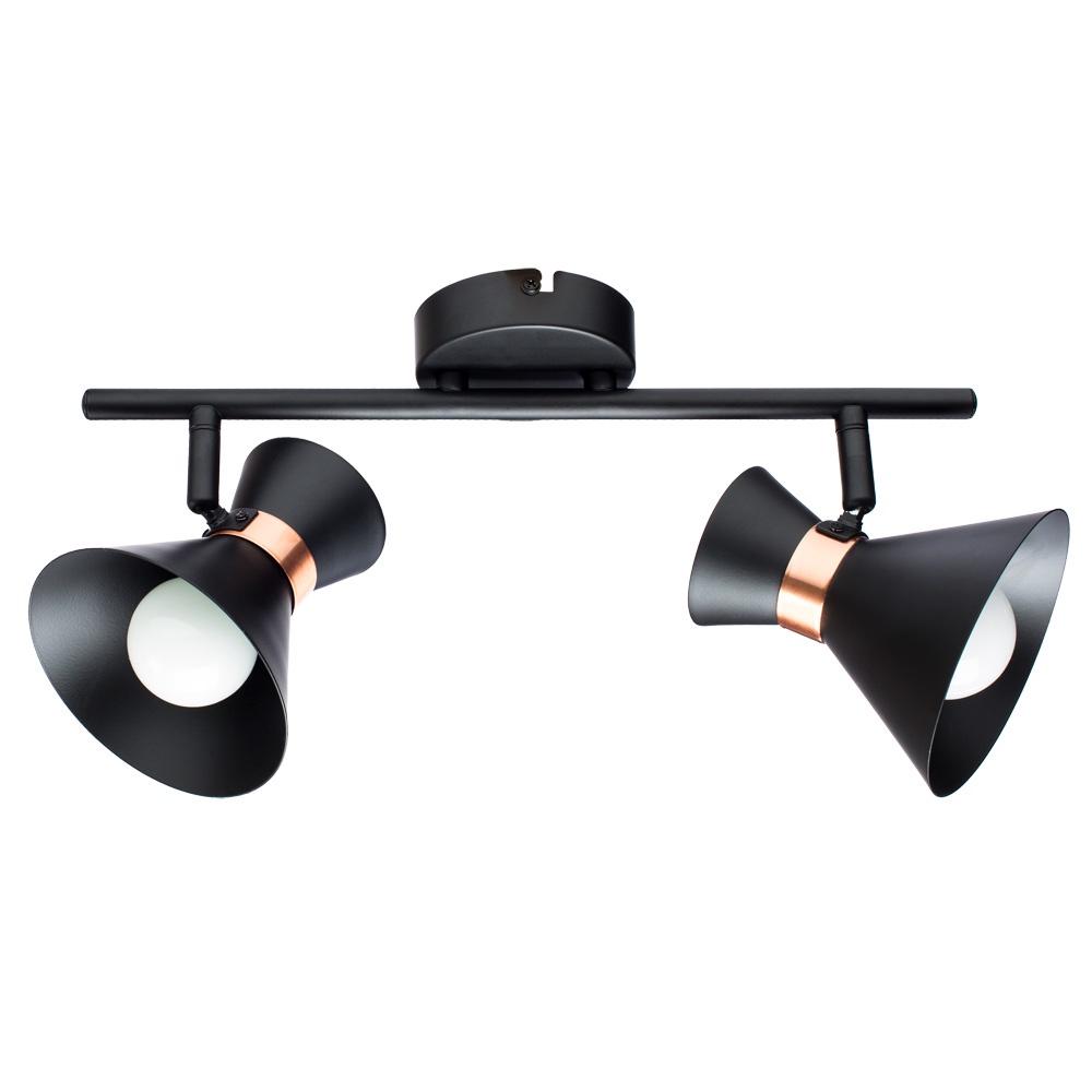 Настенно-потолочный светильник Arte Lamp A1406AP-2BK, E14, 40 Вт