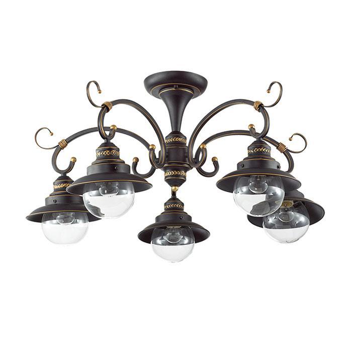 Потолочный светильник Odeon Light 3249/5C, коричневый люстра потолочная j light 1260 5c