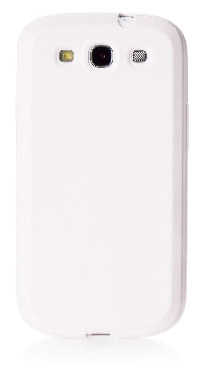 Чехол для сотового телефона iNeez накладка силикон мыльница 380346 для Samsung Galaxy S3, белый
