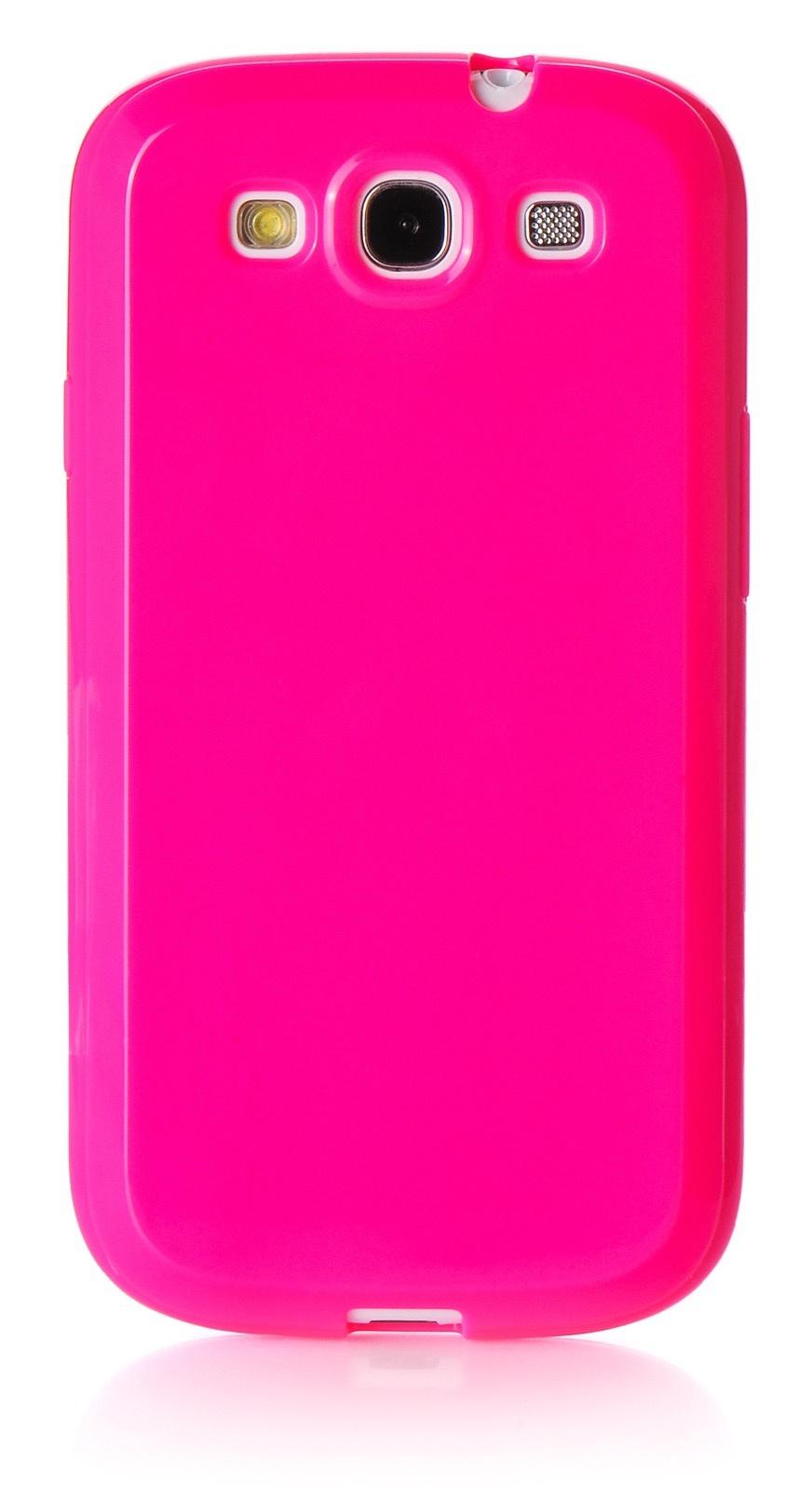Чехол для сотового телефона iNeez накладка силикон мыльница 380356 для Samsung Galaxy S3, темно-розовый