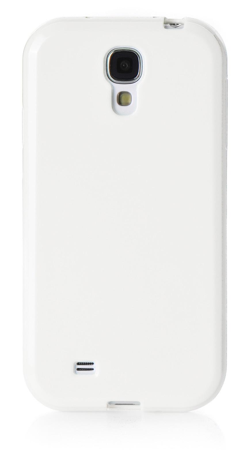 Чехол для сотового телефона iNeez накладка силикон мыльница 450165 для Samsung Galaxy S4, белый