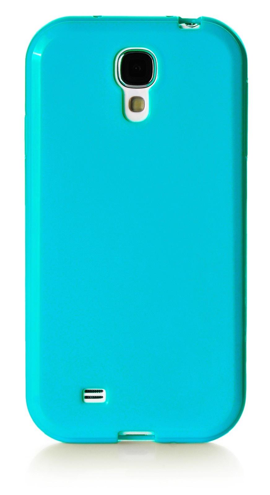 Чехол для сотового телефона iNeez накладка силикон мыльница 450171 для Samsung Galaxy S4, бирюзовый