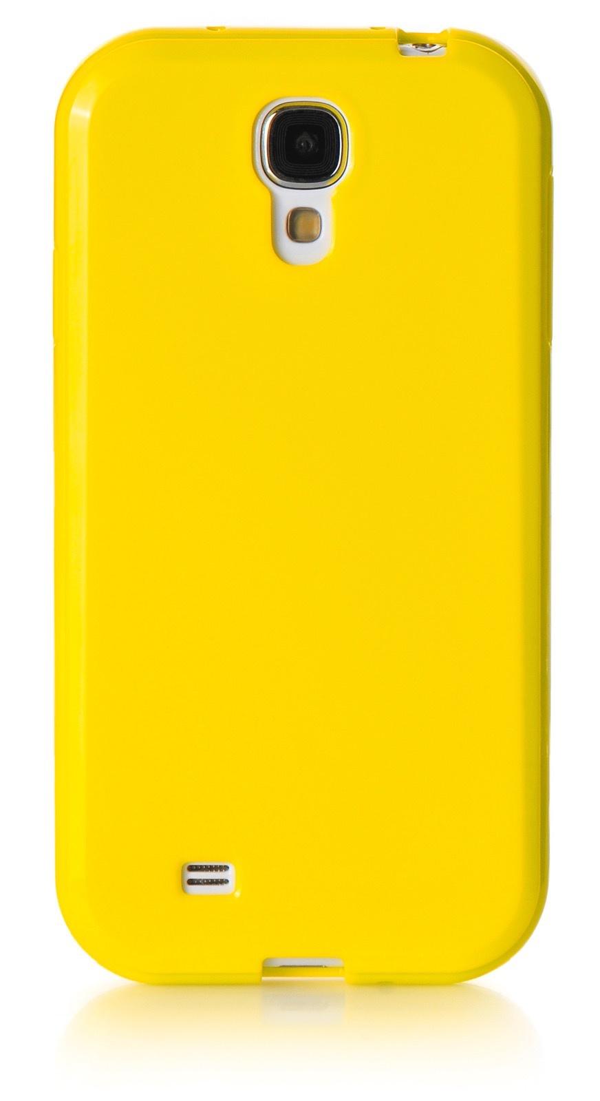 Чехол для сотового телефона iNeez накладка силикон мыльница 450172 для Samsung Galaxy S4, желтый