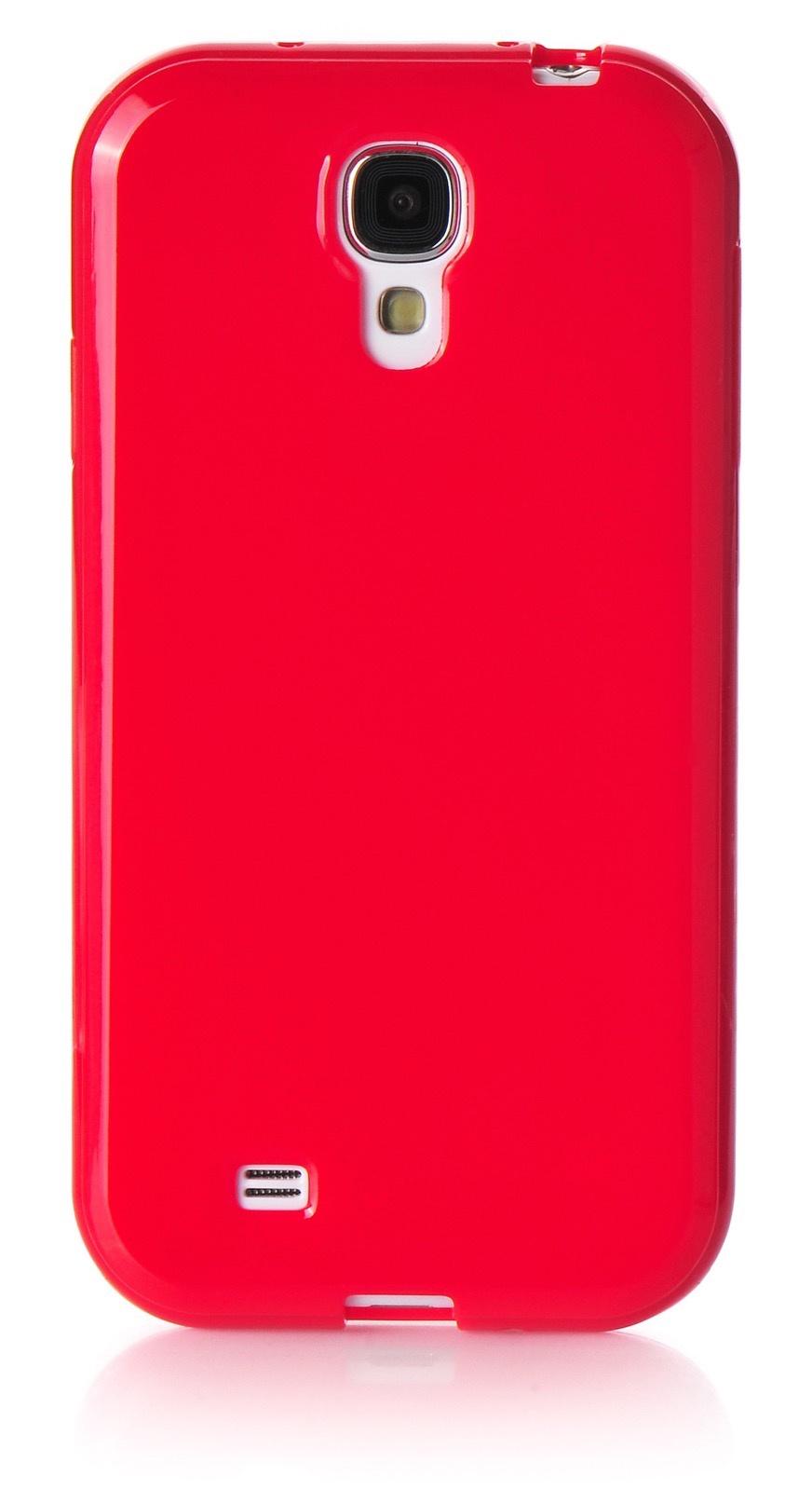 Чехол для сотового телефона iNeez накладка силикон мыльница 450170 для Samsung Galaxy S4, красный