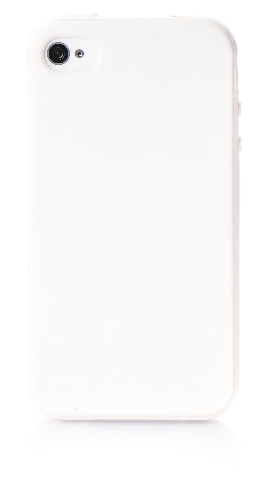 Чехол для сотового телефона iNeez накладка силикон мыльница 150684 для Apple Iphone 4/4s, белый
