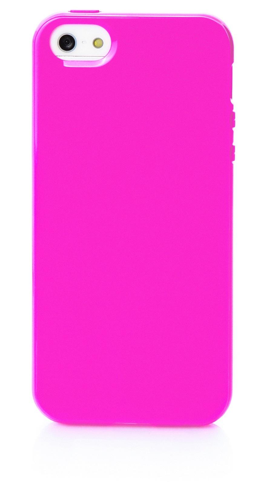 Чехол для сотового телефона iNeez накладка силикон мыльница 401820 для Apple Iphone 5/5S/SE, темно-розовый