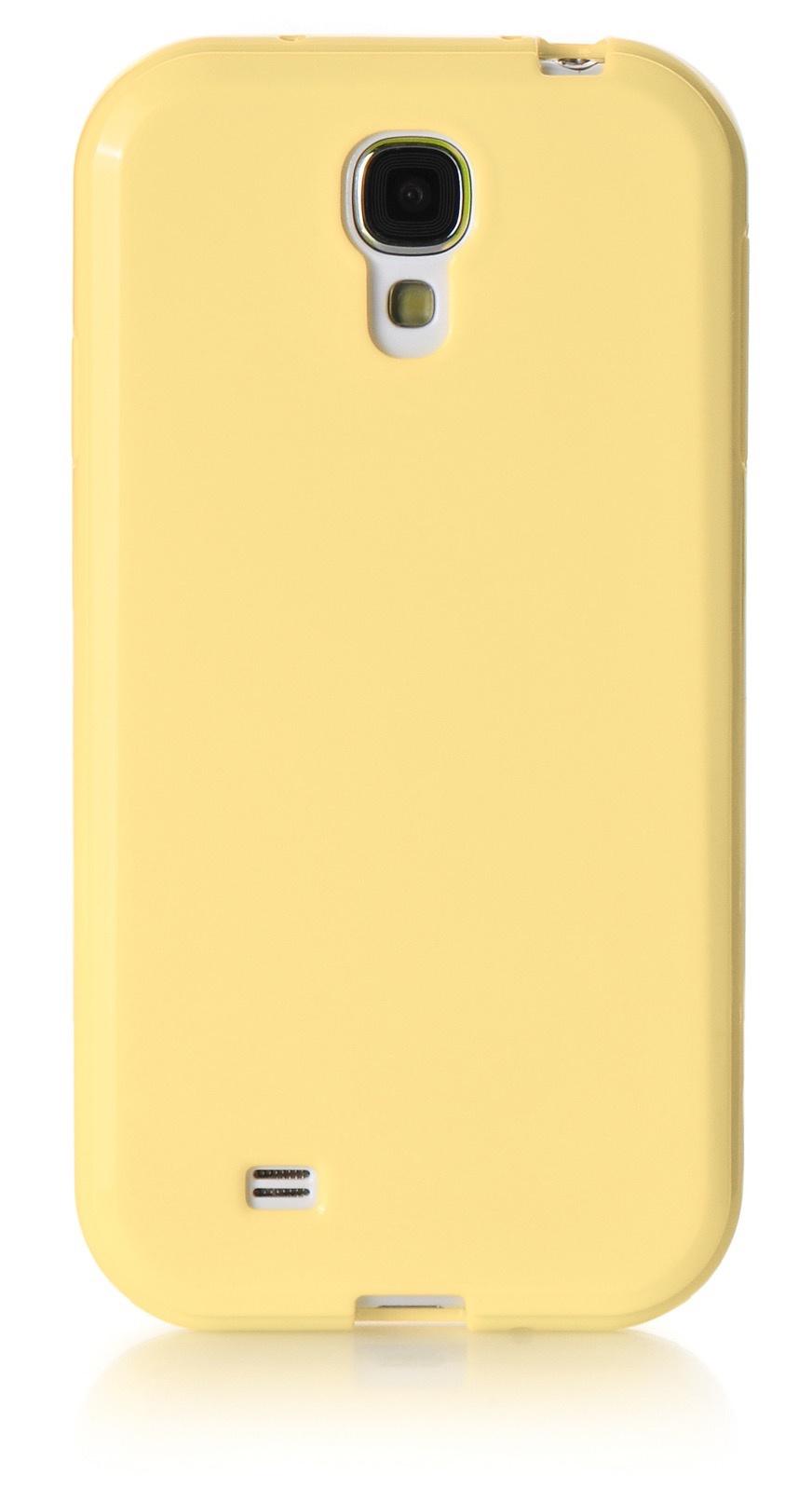 Чехол для сотового телефона iNeez накладка силикон мыльница 450176 для Samsung Galaxy S4, светло-бежевый