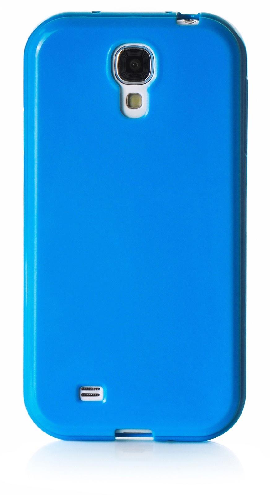 Чехол для сотового телефона iNeez накладка силикон мыльница 450179 для Samsung Galaxy S4, синий