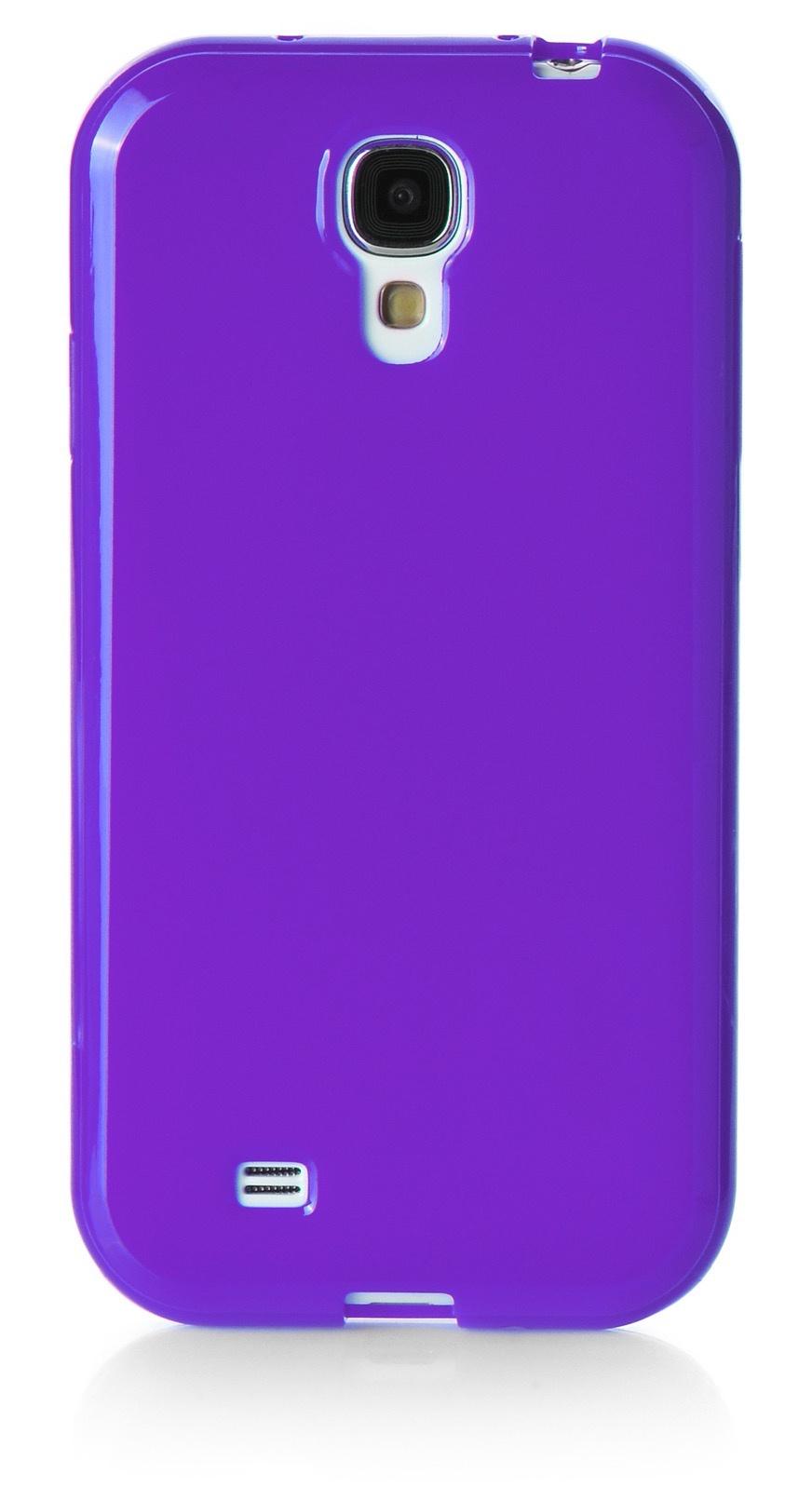 Чехол для сотового телефона iNeez накладка силикон мыльница 450174 для Samsung Galaxy S4, фиолетовый