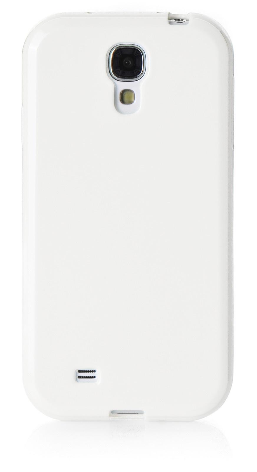 Чехол для сотового телефона iNeez накладка силикон мыльница 480073 для Samsung Galaxy S4 mini, белый