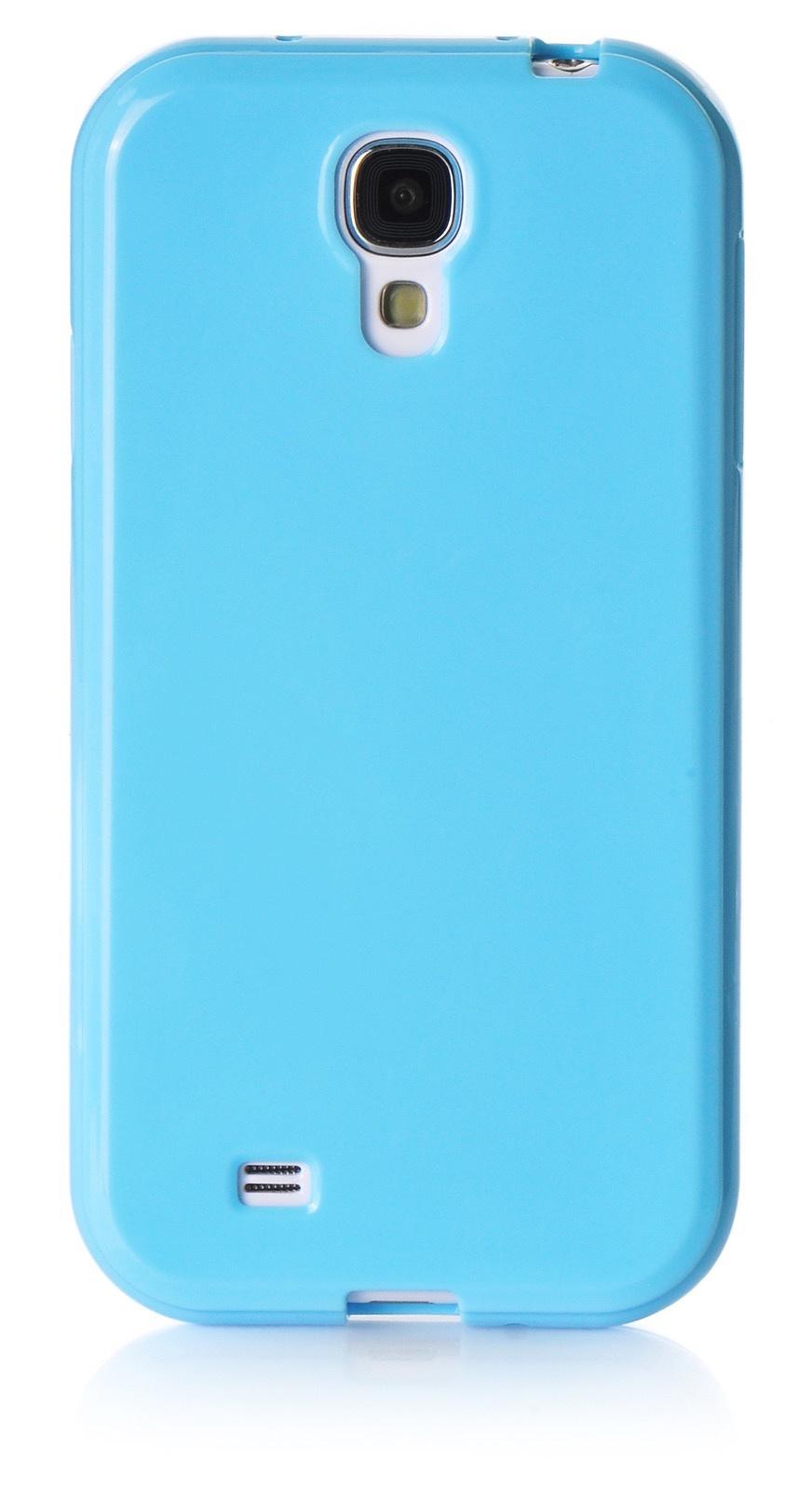 Чехол для сотового телефона iNeez накладка силикон мыльница 480078 для Samsung Galaxy S4 mini, голубой