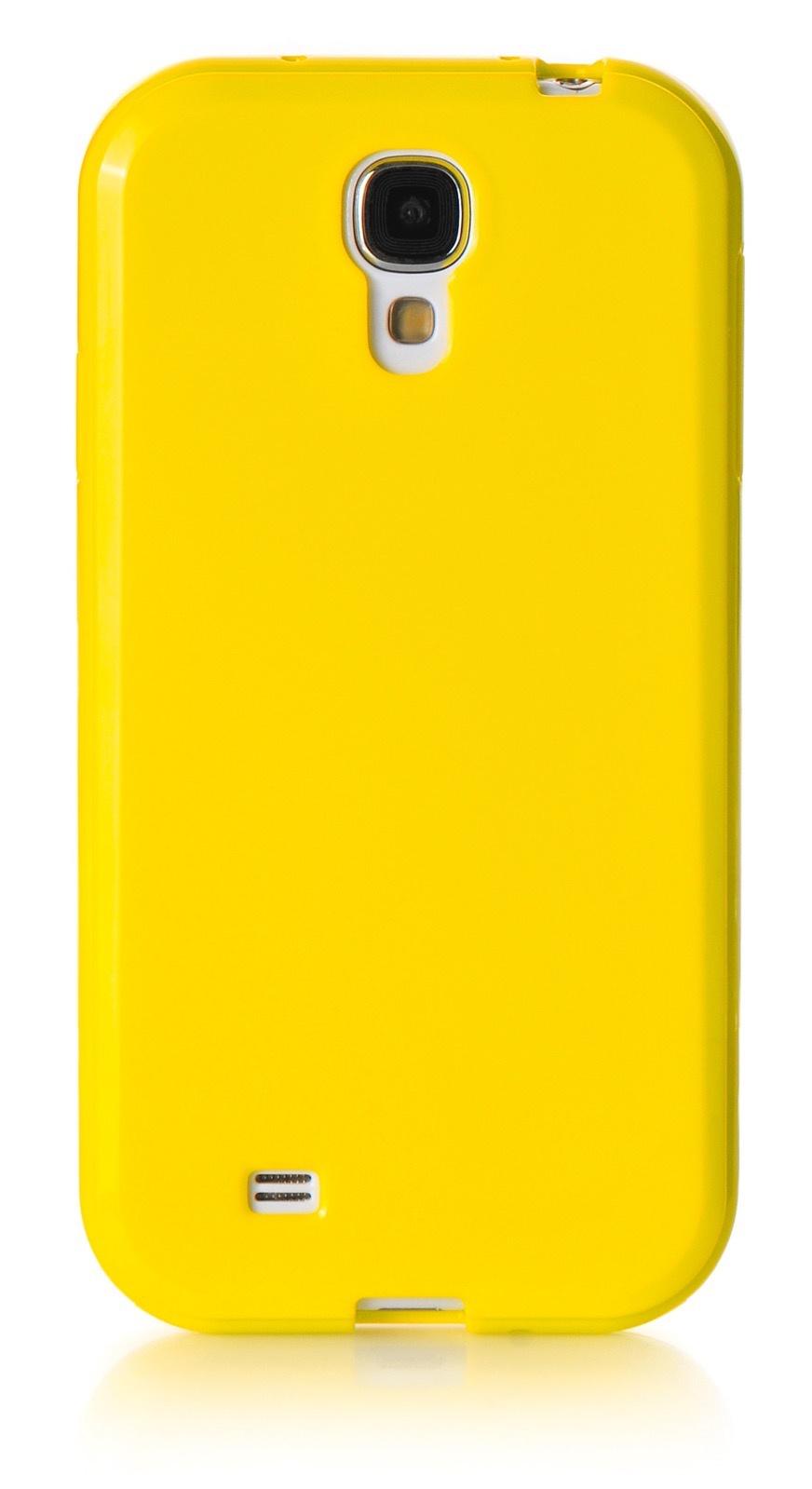Чехол для сотового телефона iNeez накладка силикон мыльница 480085 Samsung Galaxy S4 mini, желтый