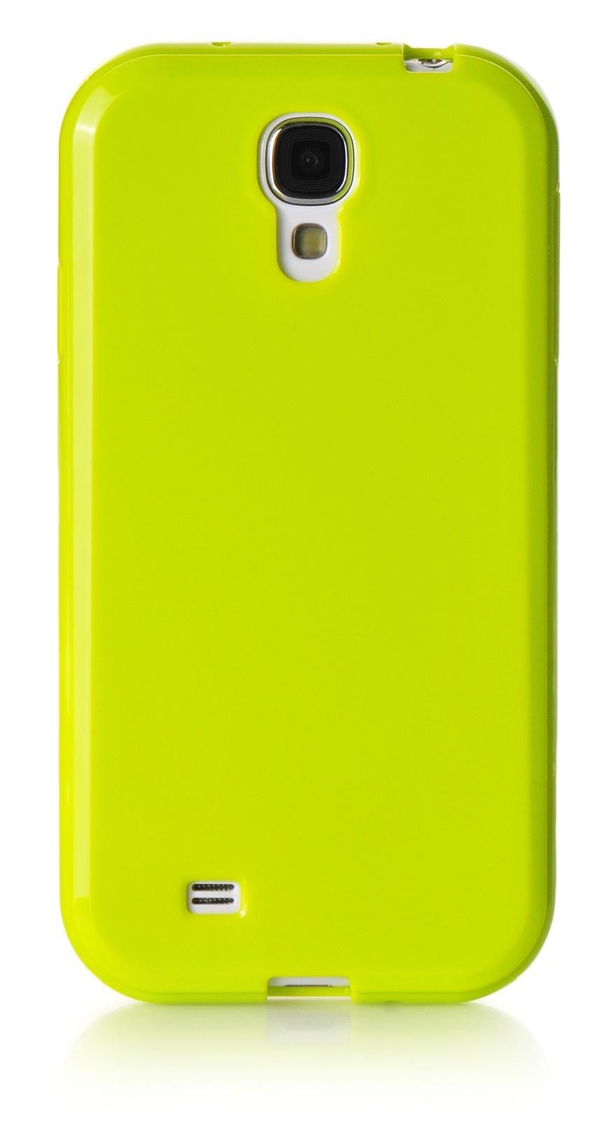 Чехол для сотового телефона iNeez накладка силикон мыльница 480083 для Samsung Galaxy S4 mini, салатовый